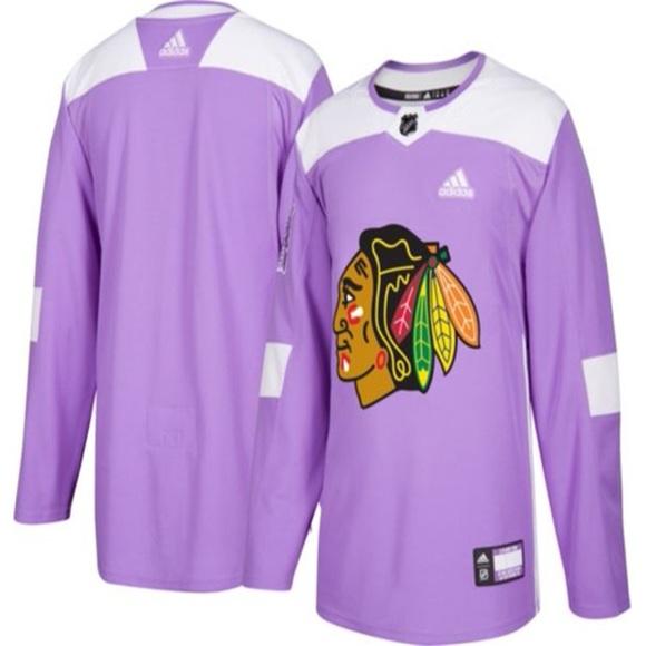 huge selection of e181f 12371 Chicago blackhawks purple adidas hockey jersey